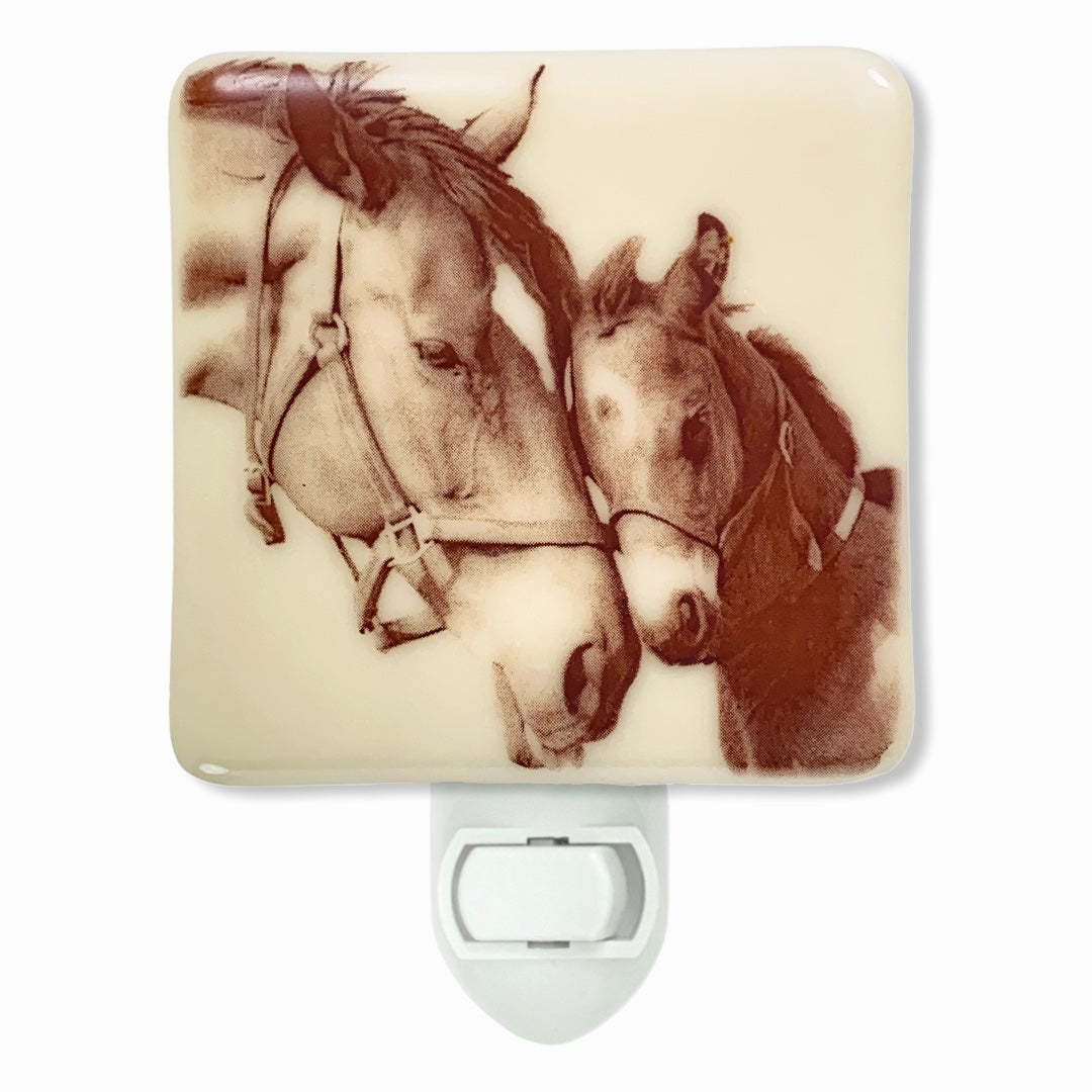 Horse Mother And Baby Horse Night Light