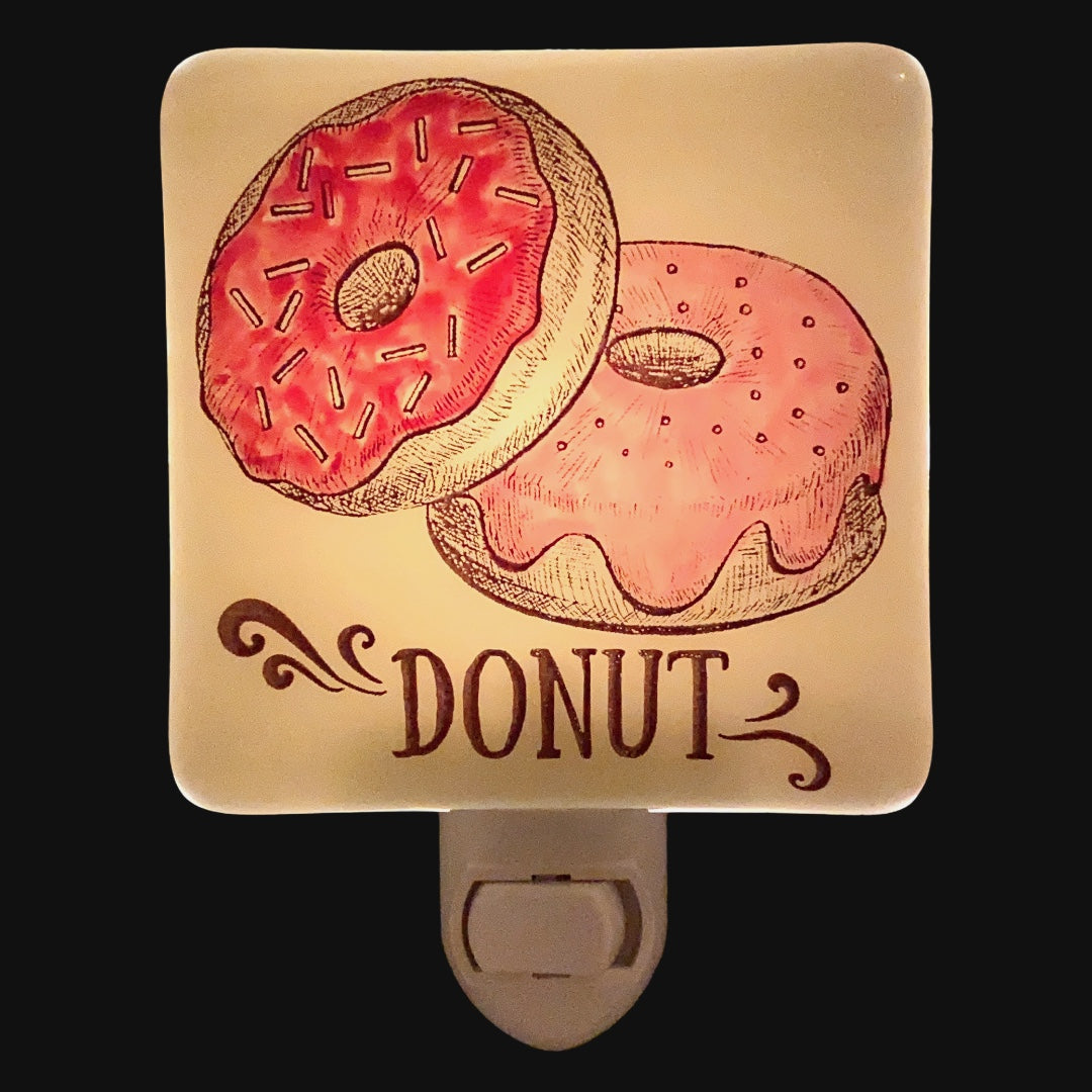 Pink Frosted Donuts Night Light