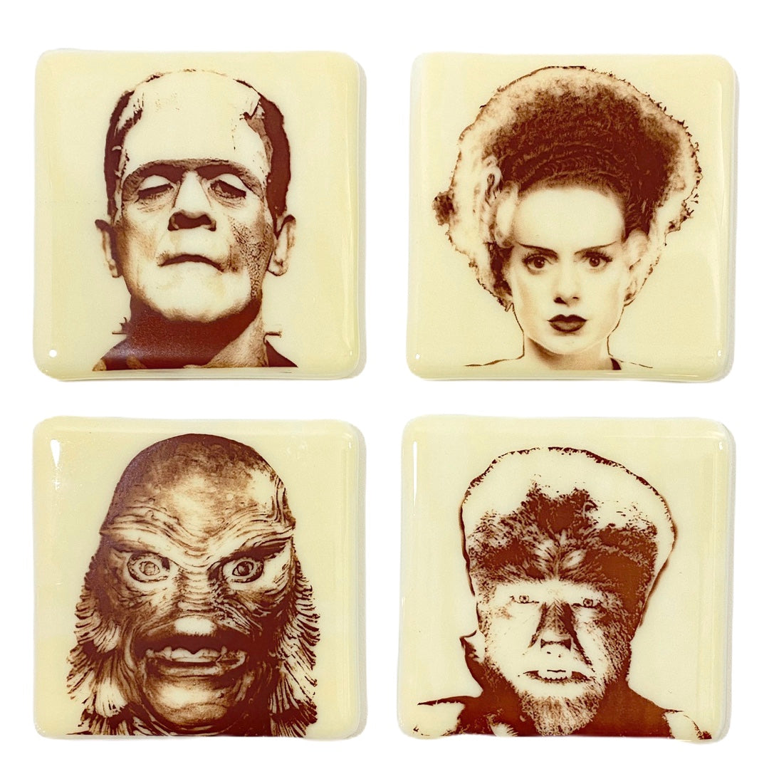 Classic Monster Coasters Frankenstein, Bride, Wolfman, Creature