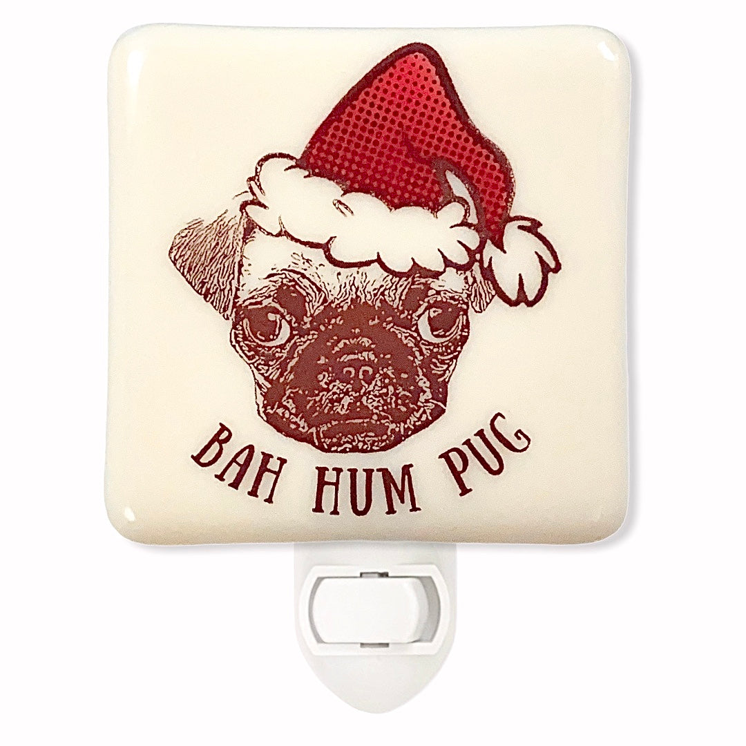 Bah! Hum Pug Dog Christmas Night Light
