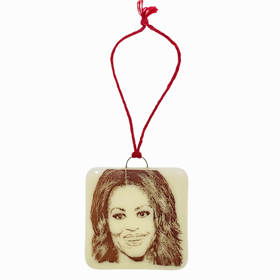 Michelle Obama Ornament