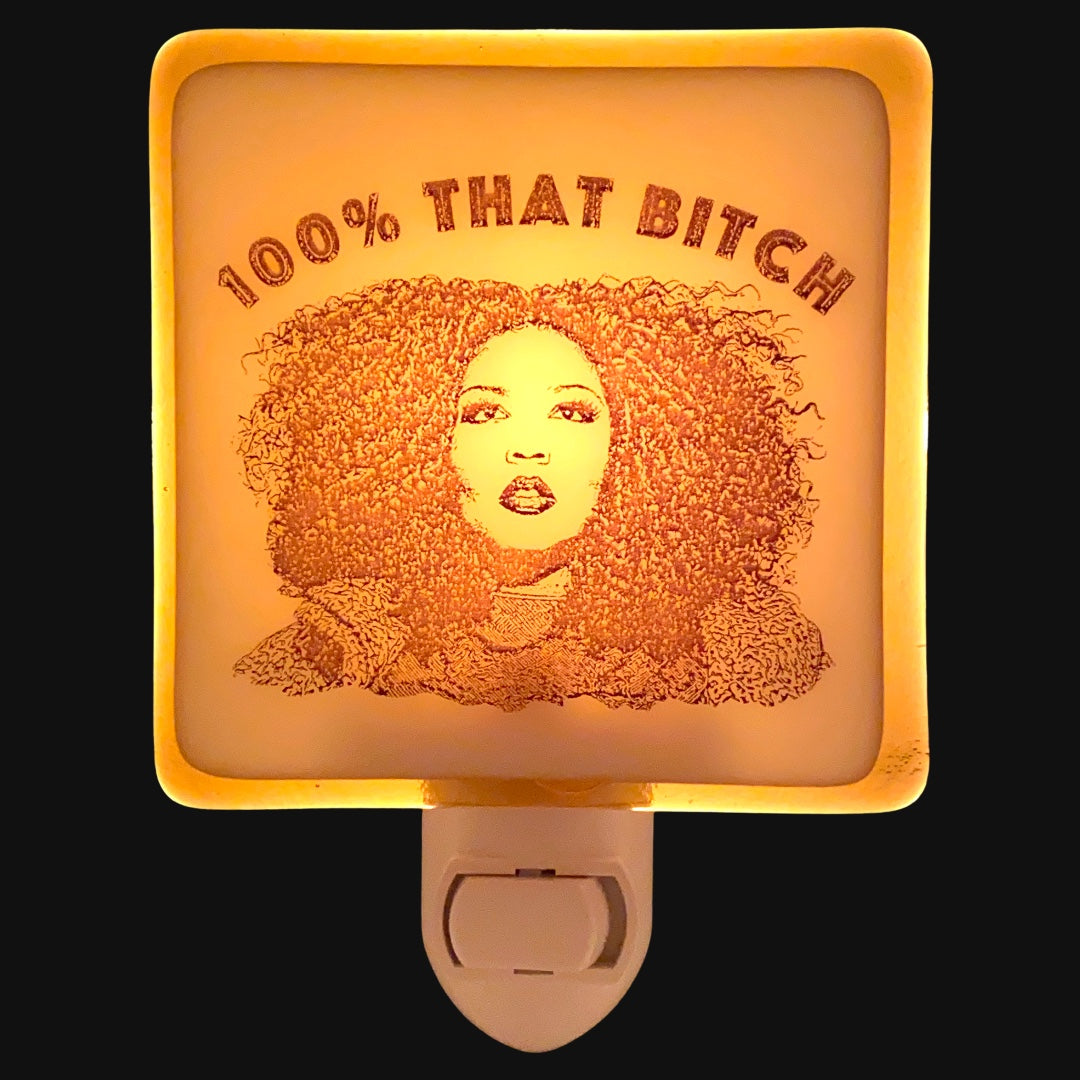 "Lizzo ""100% That Bitch"" Night Light"