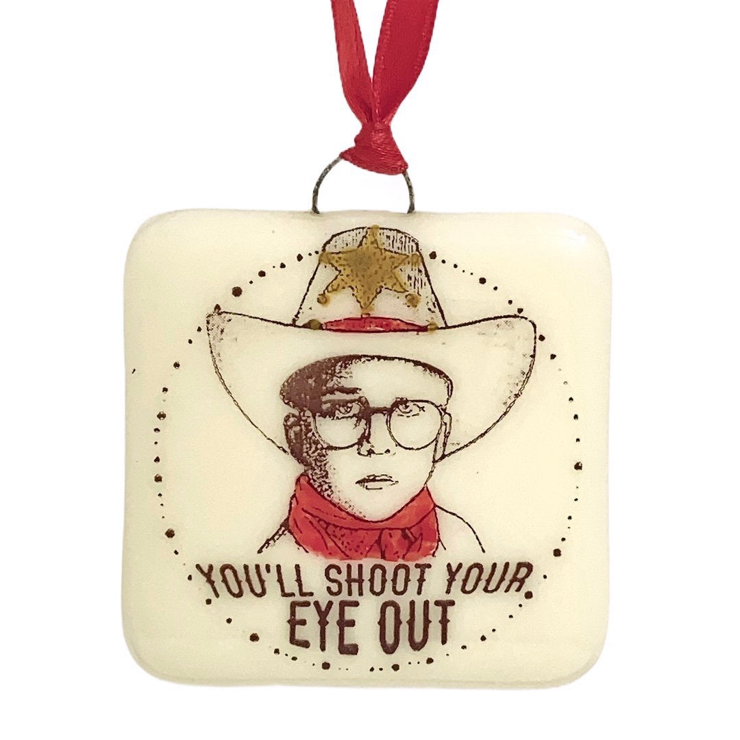 "A Christmas Story - ""You'll Shoot Your Eye Out"" Ralphie Ornament - Hand Painted"