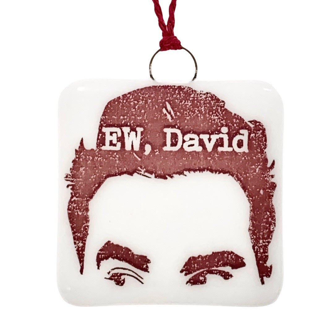"David Rose Schitt's Creek Ornament ""EW, David"""