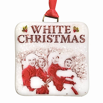 White Christmas Movie Bing Crosby Ornament - Hand-painted