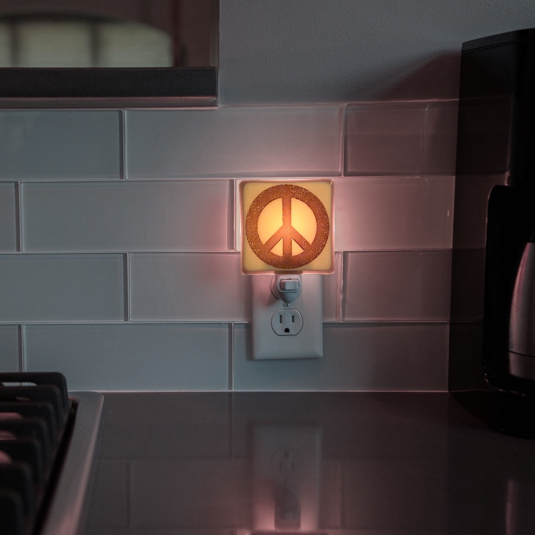 Peace Sign Symbol Hand Night Light