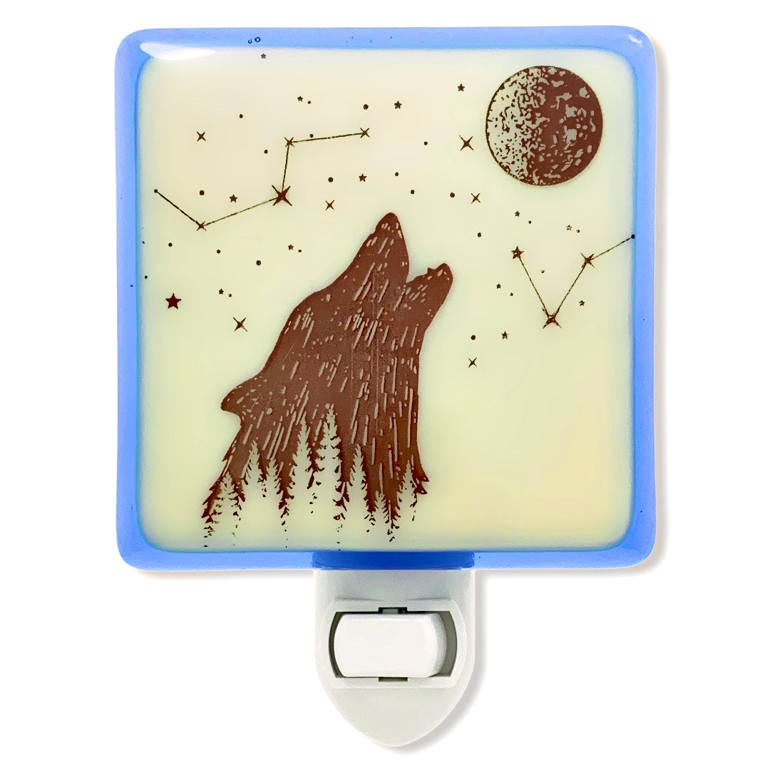 Howling Wolf Boho Celestial Night Light