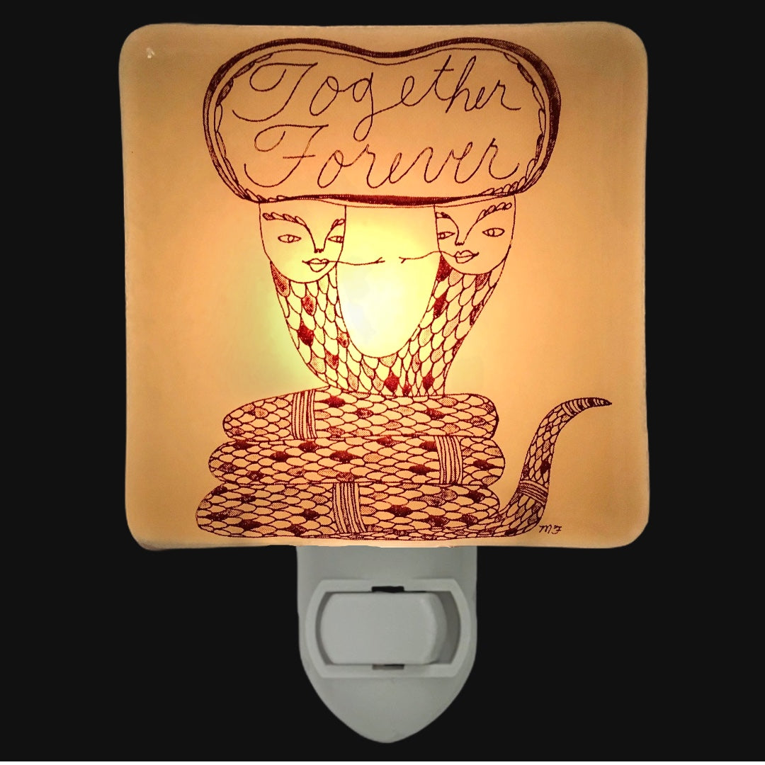 "Cute Snake Night Light ""Together Forever"" - By Melissa Flesher"