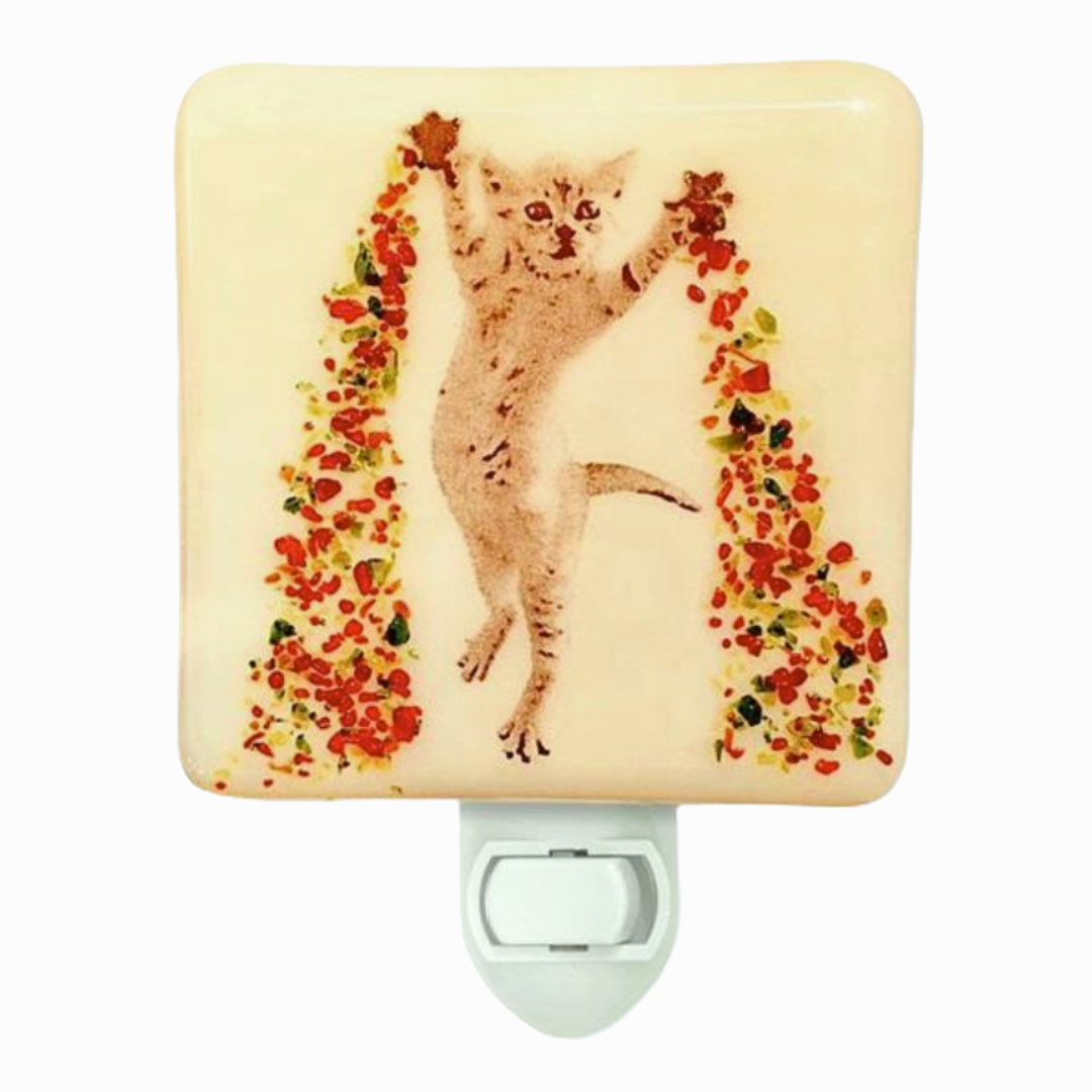 Christmas Magic Kitten Night Light