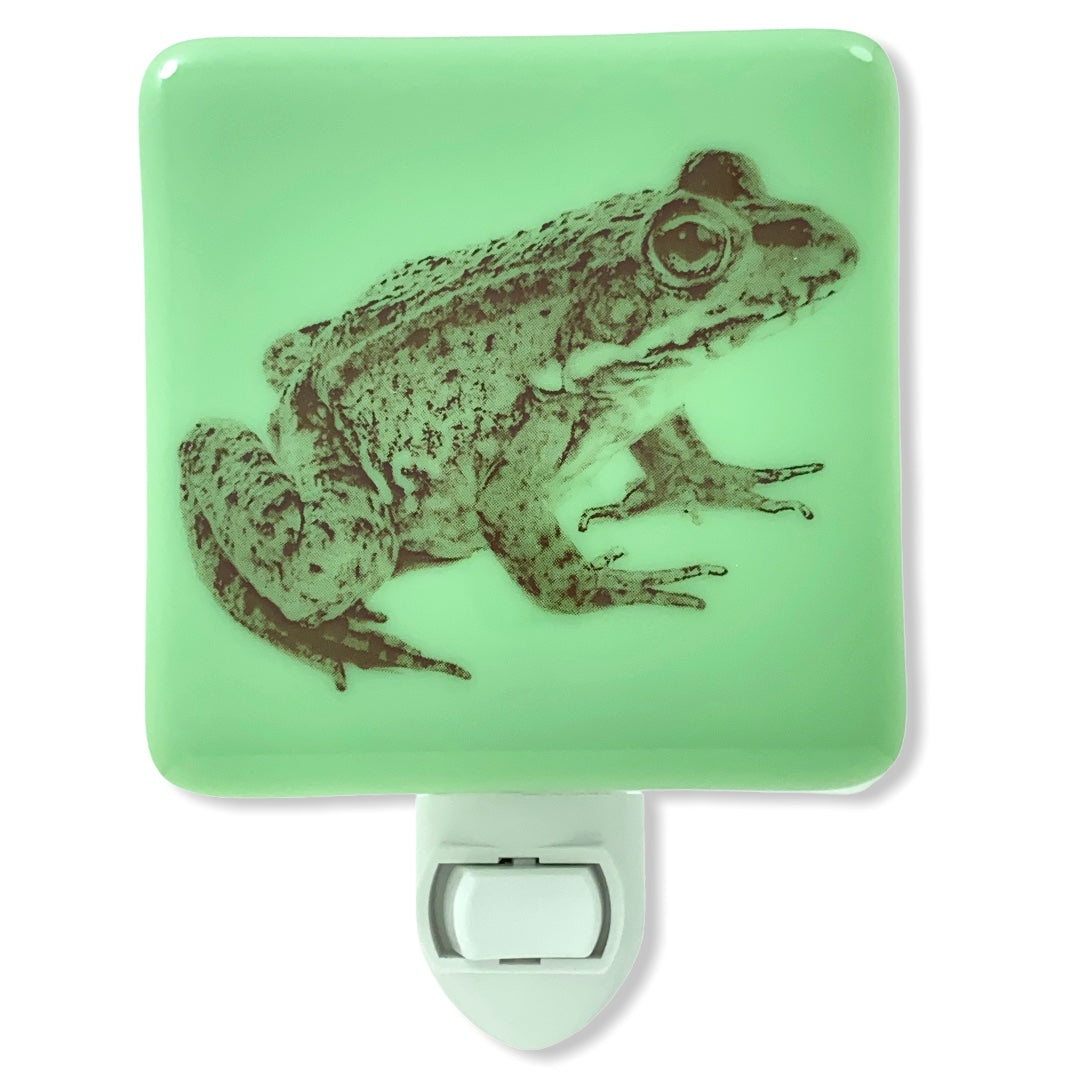 Frog Night Light Jadeite Green  Glass
