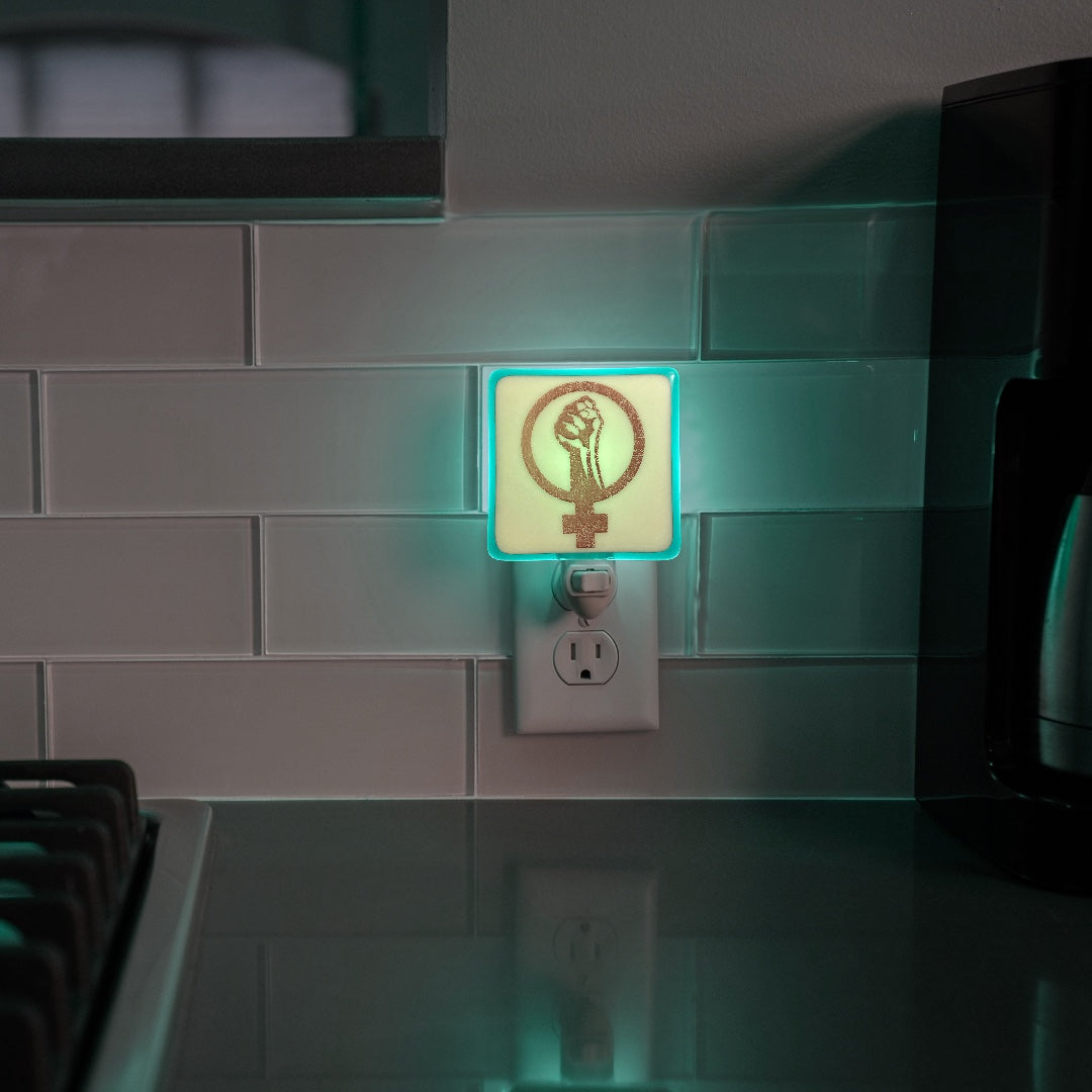 Woman Power Symbol Night Light