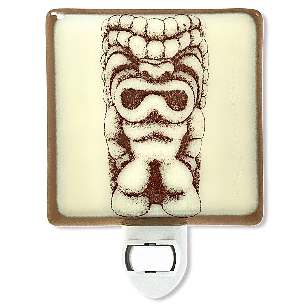 Tiki Idol from Brady Bunch Hawaii Night Light - Bronze and Ivory Glass