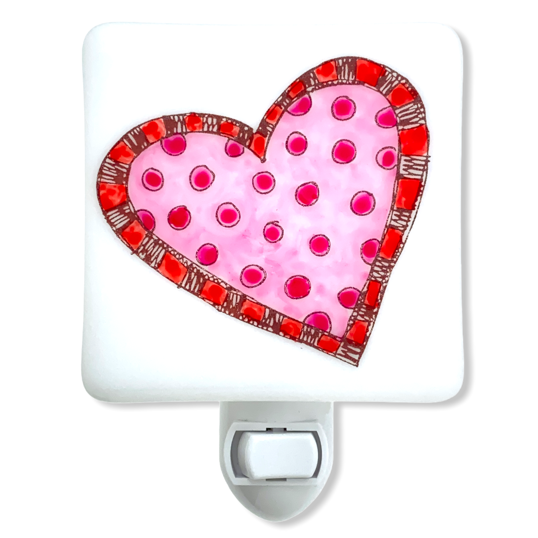 Cheery Valentines Heart Night Light