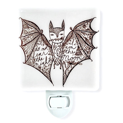 Bat Night Light - Illustration by Melissa Flesher