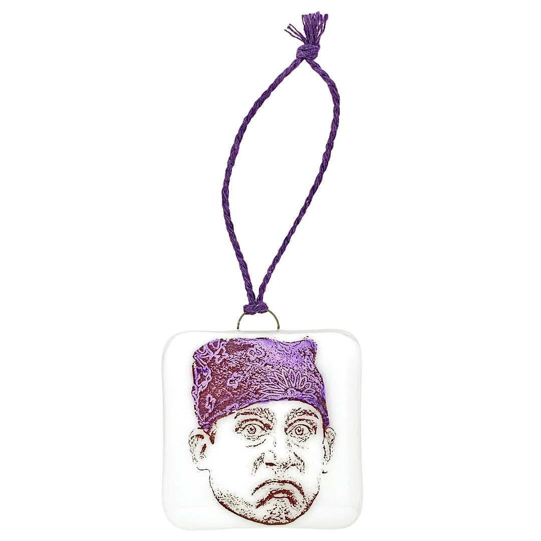 "The Office - Michael Scott ""Prison Mike"" Ornament - Hand Painted Purple Bandana"