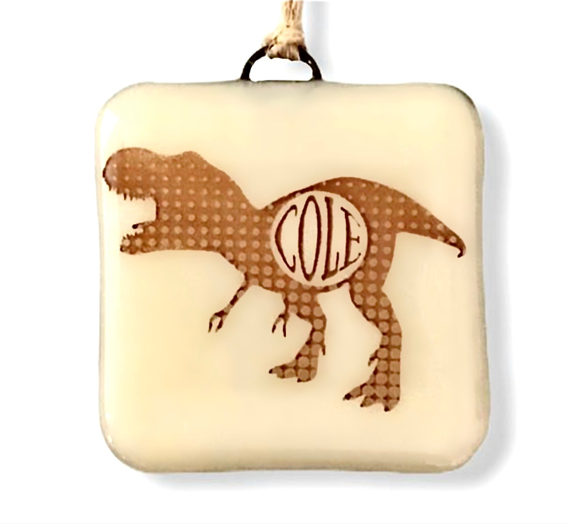 PERSONALIZED Dinosaur with Name Ornament