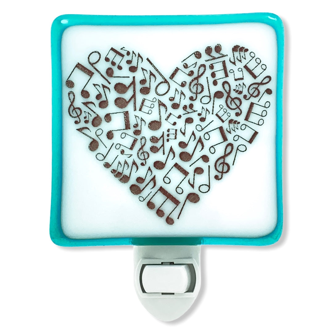 Music Lovers Musical Notes Heart - Night Light