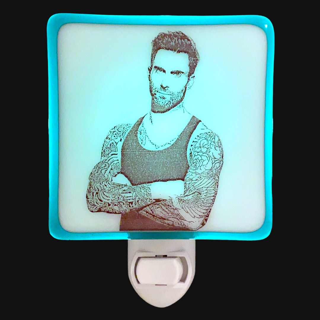 Adam Levine Maroon 5 Tattoos Night Light