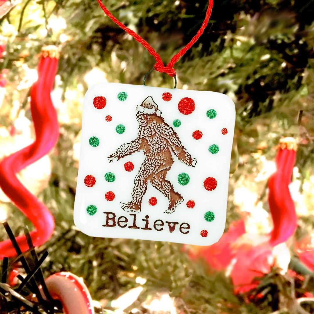 "Bigfoot Sasquatch ""Believe"" Christmas Ornament"