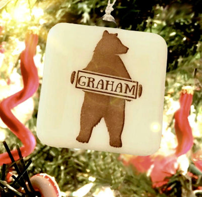PERSONALIZED Bear with Name Ornament