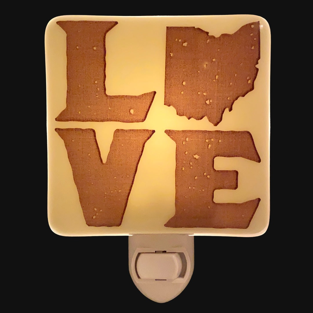 PERSONALIZED LOVE Night Light with Your State
