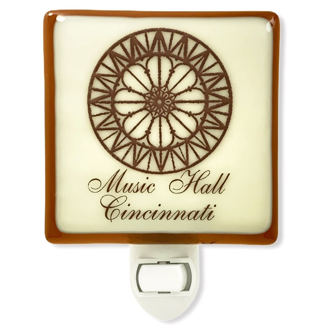 Cincinnati Ohio - Music Hall Rose Window Night Light