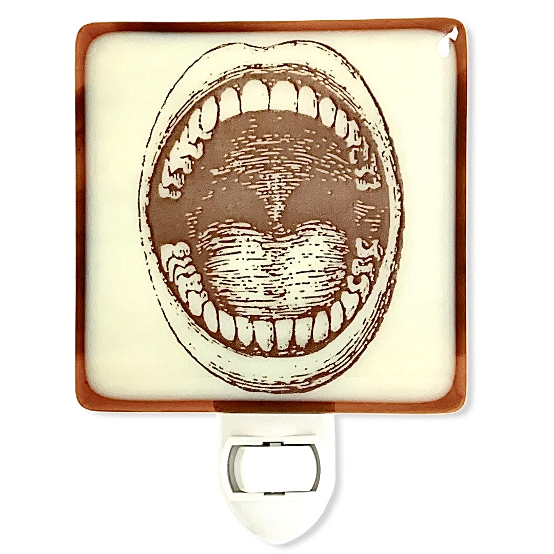 Vintage Open Mouth Etching Night Light