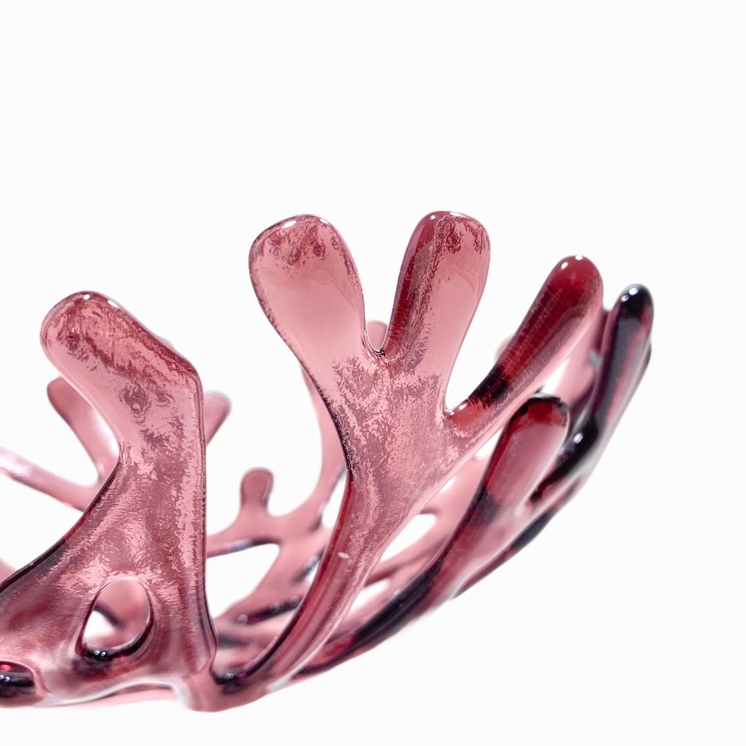 Coral Branch Bowl | Medium Violet Glass