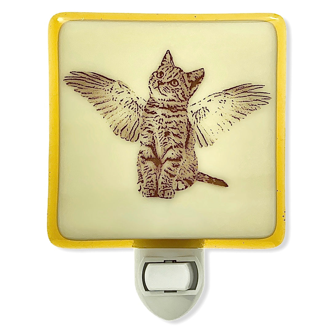 Cat Angel Night Light Pet Memorial, Sympathy Gift