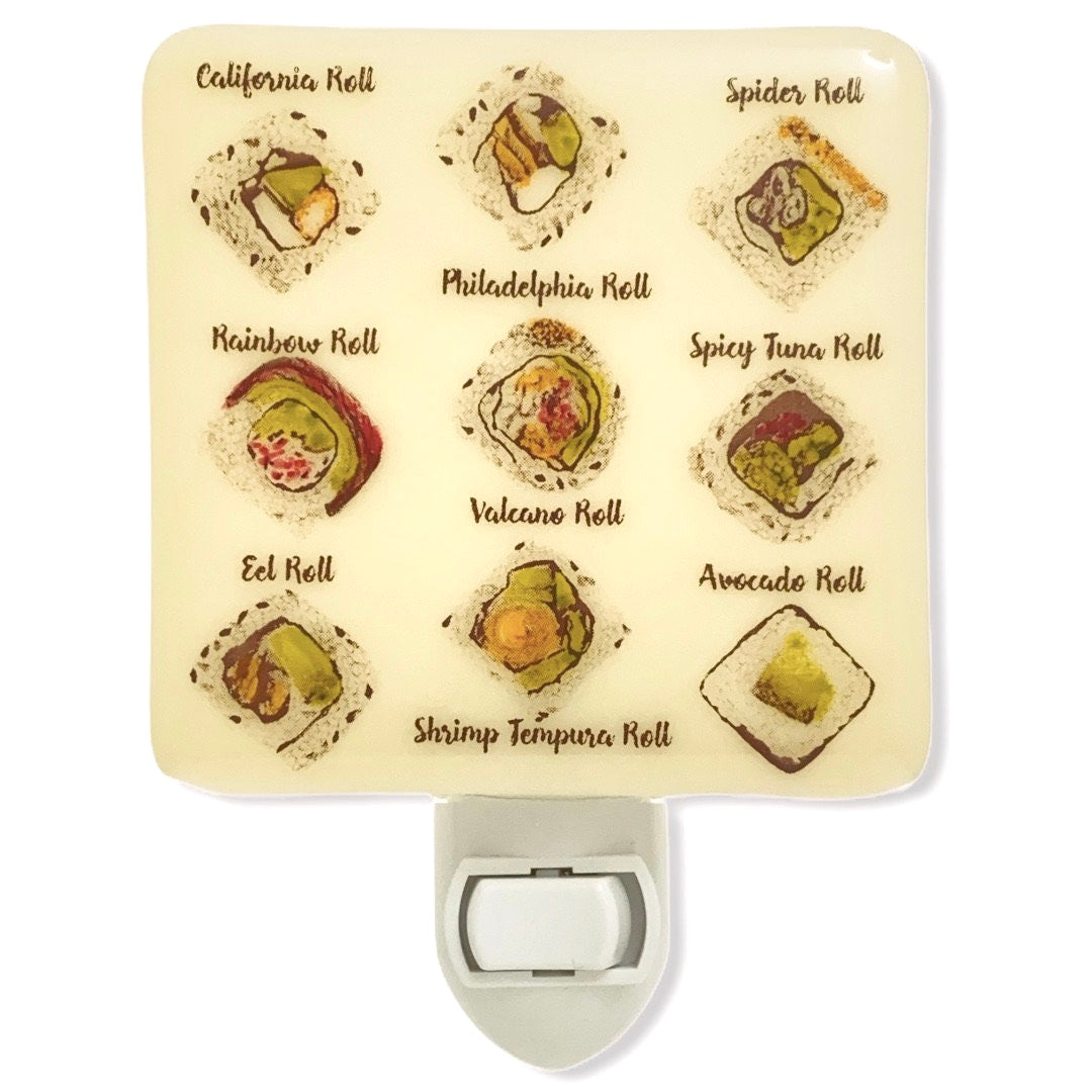 Sushi Menu Night Light