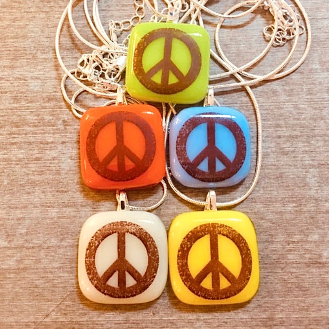 Peace Sign Symbol Necklace