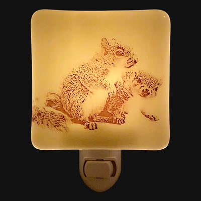 Two Baby Squirrel Night Light