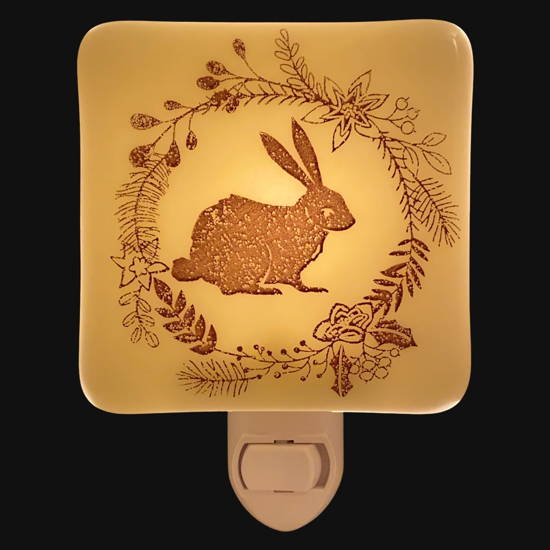 Rabbit and Winter Wreath Night Light