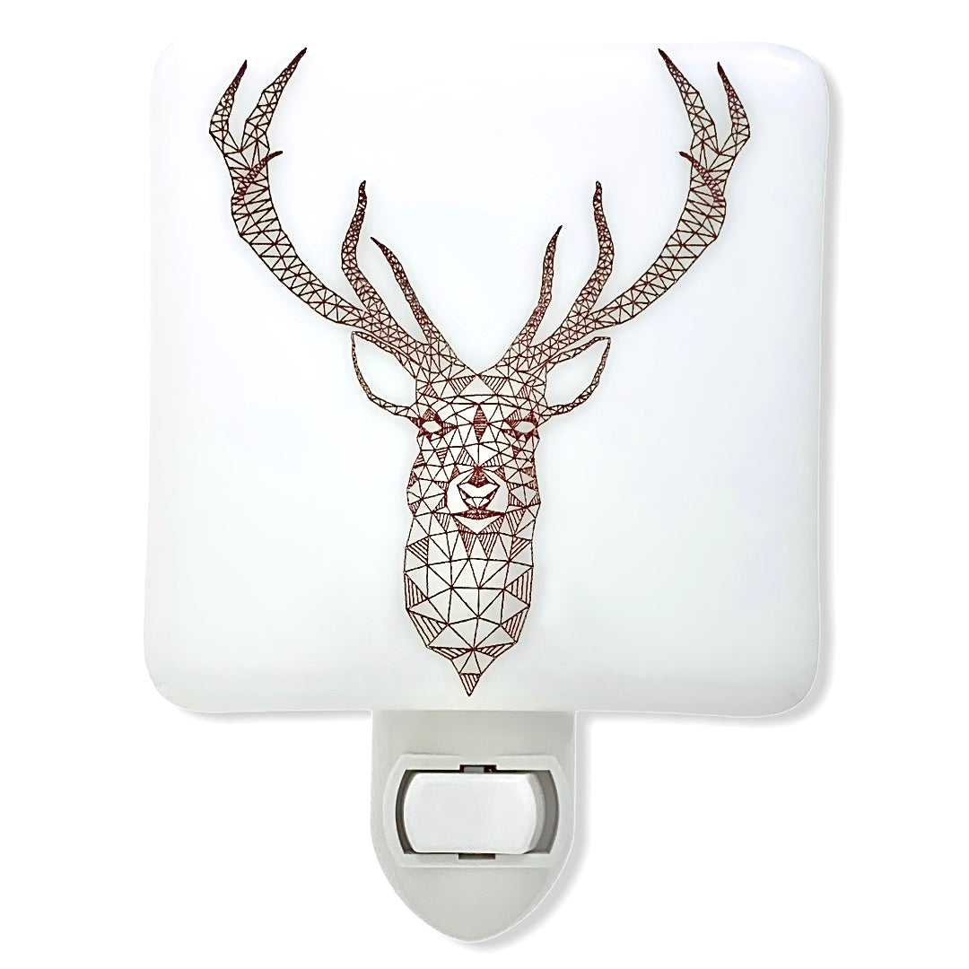 Modern Geometric Deer Night Light
