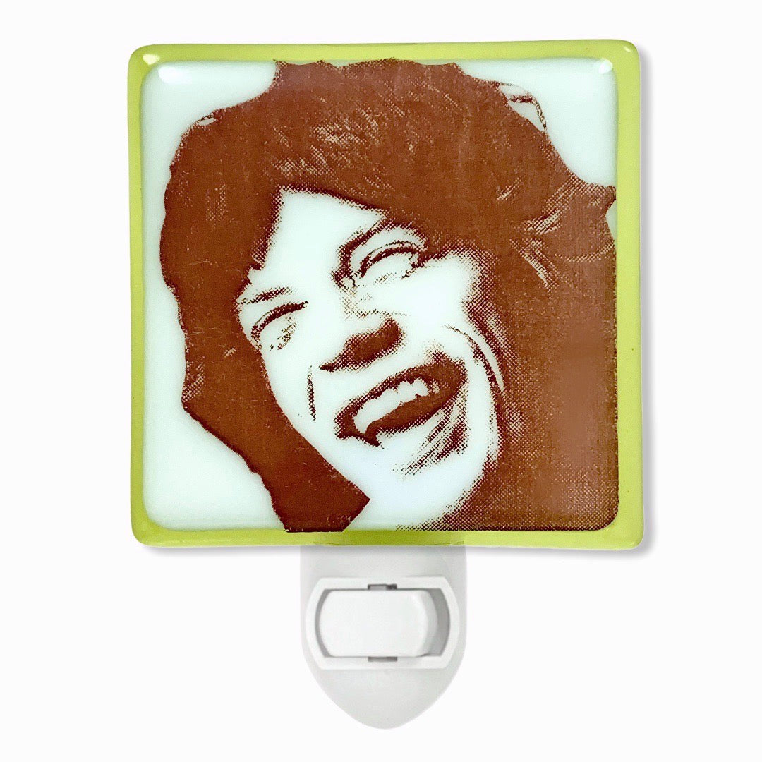 Mick Jagger Smiling Rolling Stones Night Light
