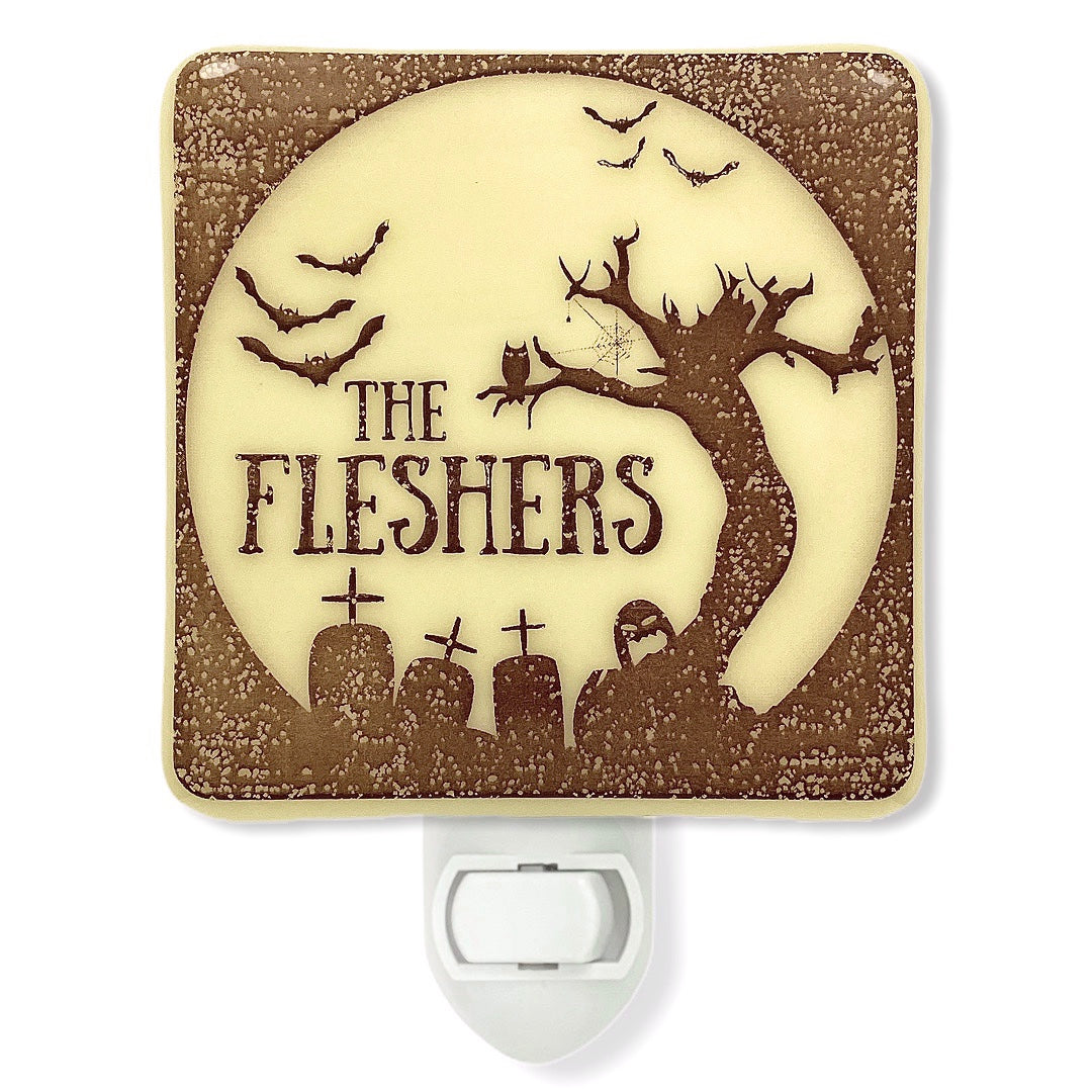 PERSONALIZED Halloween Scene Night Light with Name