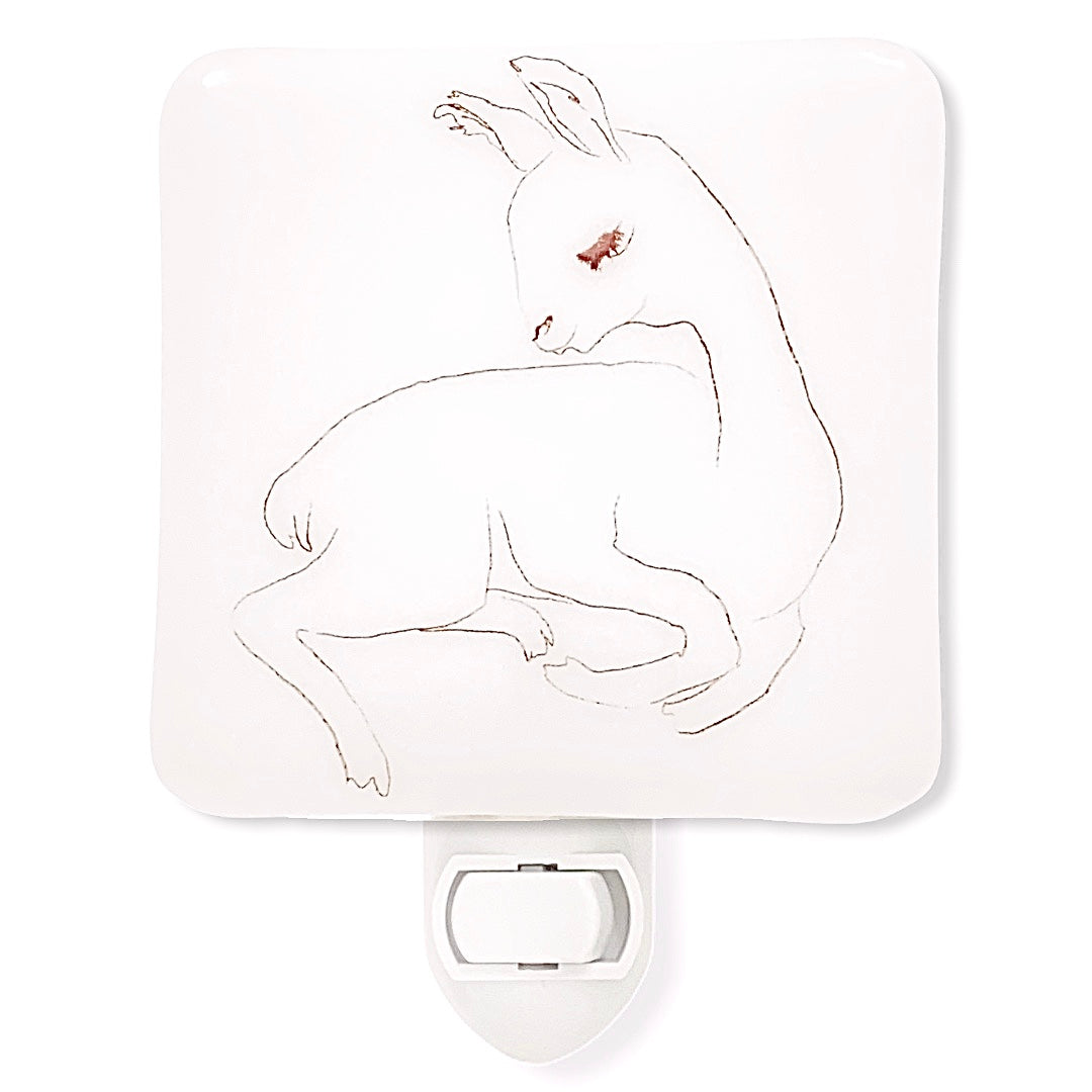 Llama Baby Pencil Sketch Night Light