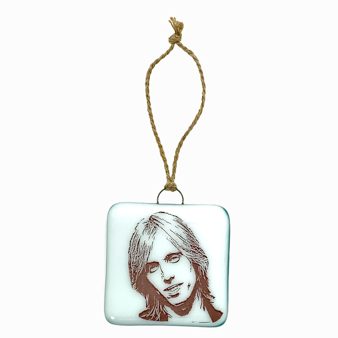 Tom Petty Ornament - Bright Hand Painted
