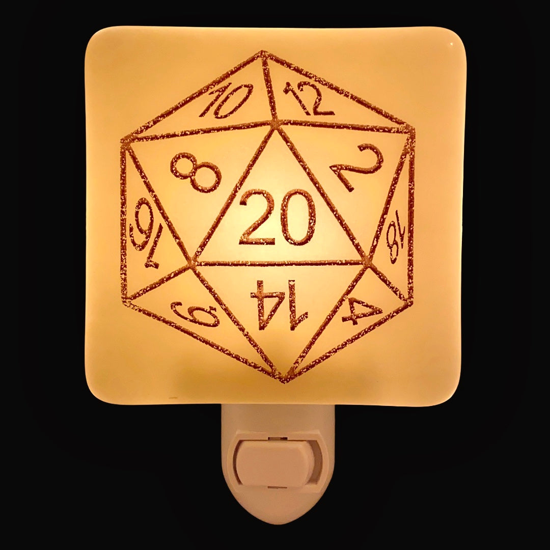 Dungeons and Dragons 20 Sided Die Night Light