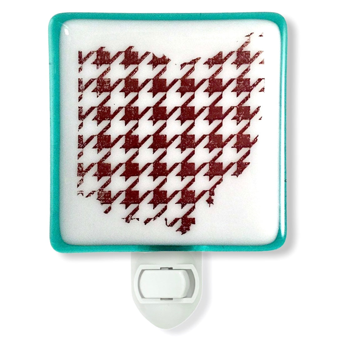 Ohio Houndstooth Pattern Night Light