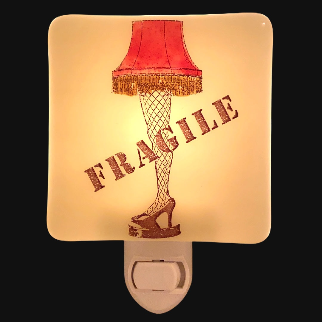 "Christmas Story ""Fragile"" Leg Lamp Night Light - Hand Painted"