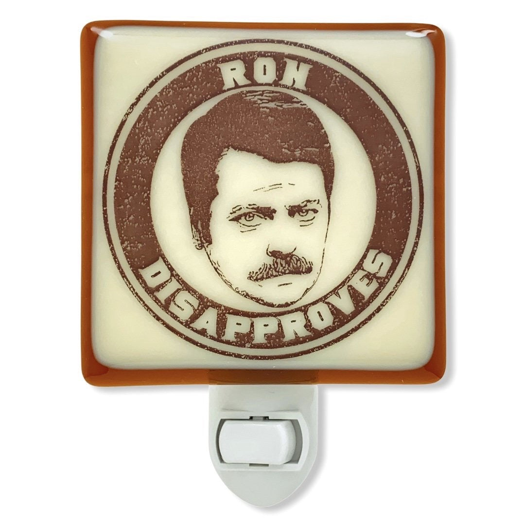 "Parks and Recreation - Ron Swanson ""Ron Disapproves"" Night Light"