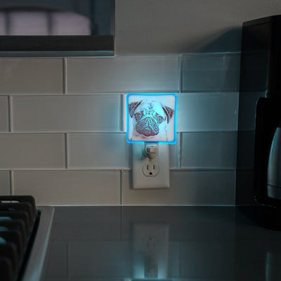 Pug Dog Night Light