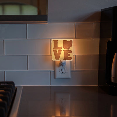 Ohio LOVE Block Letters Night Light