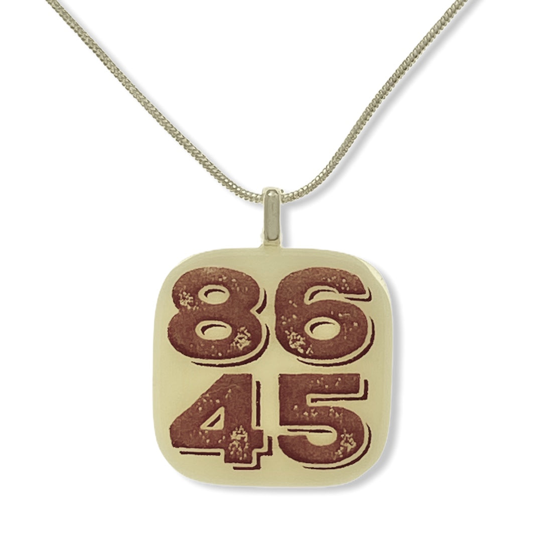 8645 Necklace Anti Trump RESIST IMPEACH 45