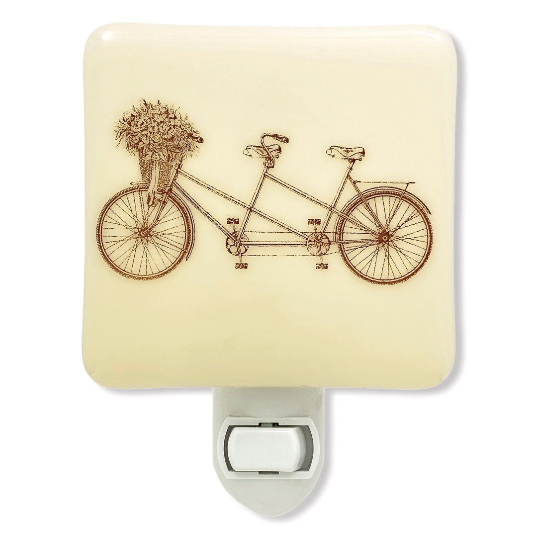 Tandem Bicycle Night Light, Summertime Decor