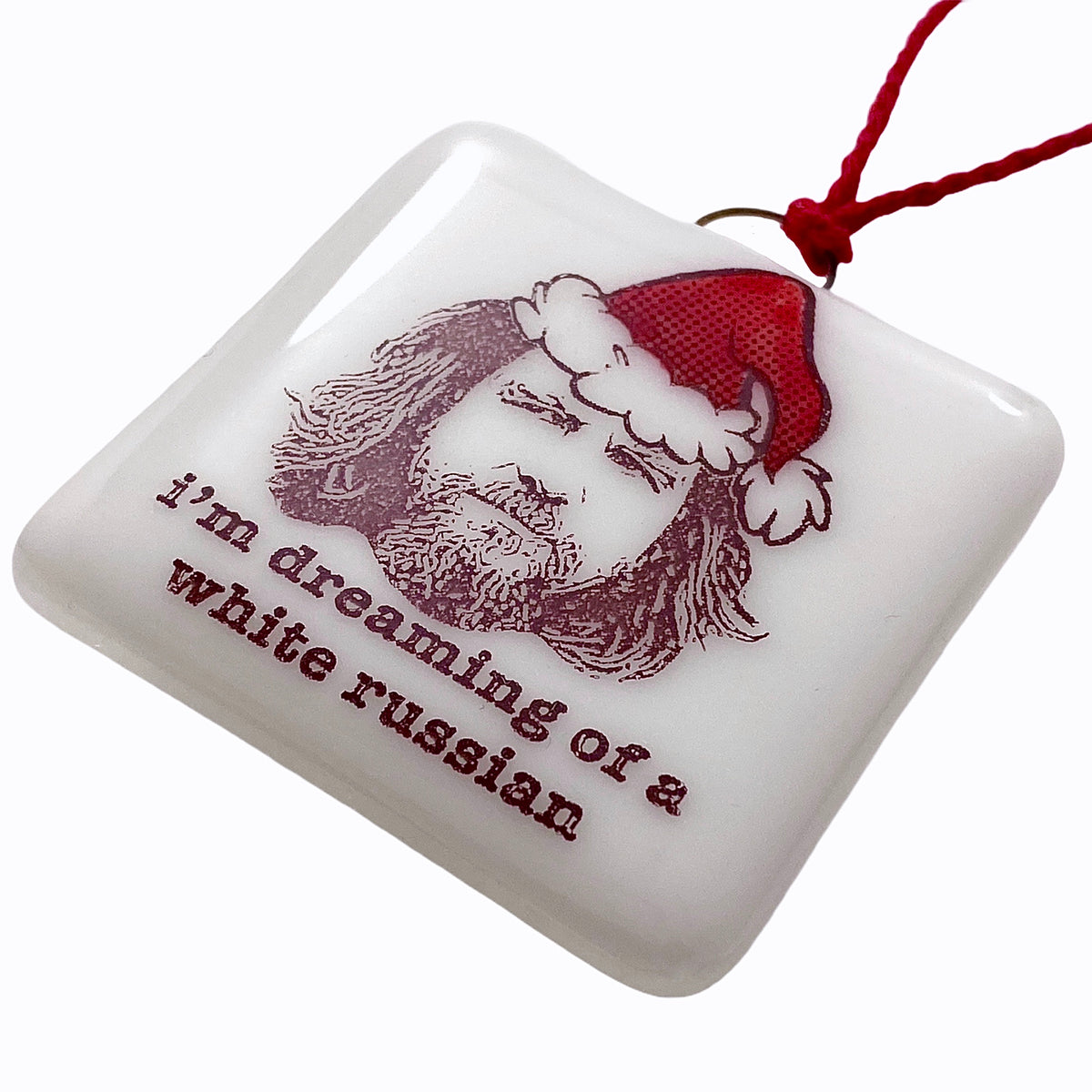 "The Big Lebowski - The Dude  ""I'm Dreaming of a White Russian"" Ornament"