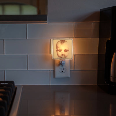 Creepy Doll Head Night Light