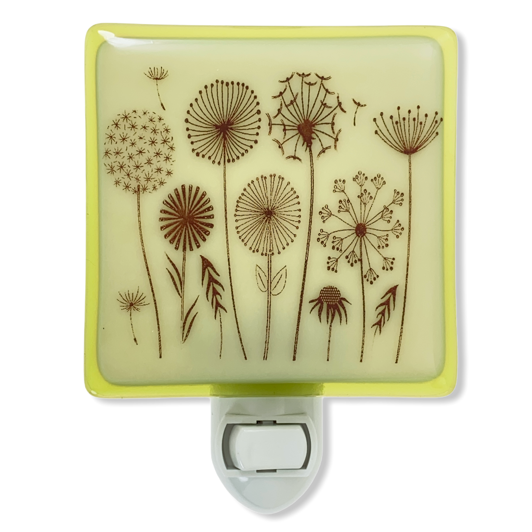 Dandelion Wild Flowers Night Light