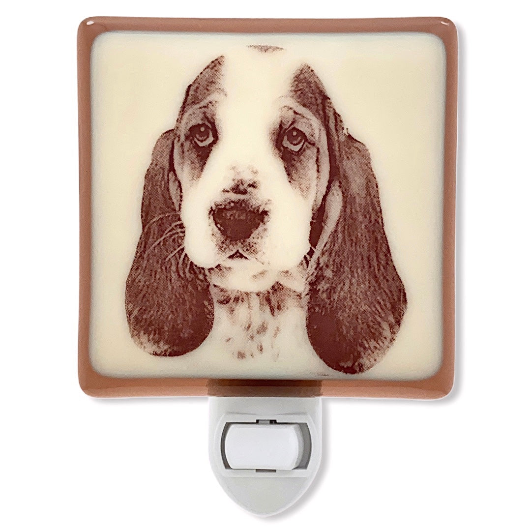 Basset Hound Face Night Light